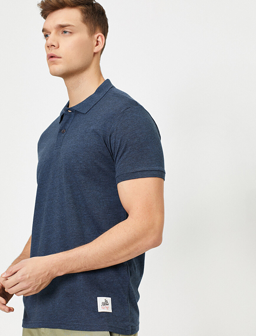 Polo Neck Slim Fit T-Shirt