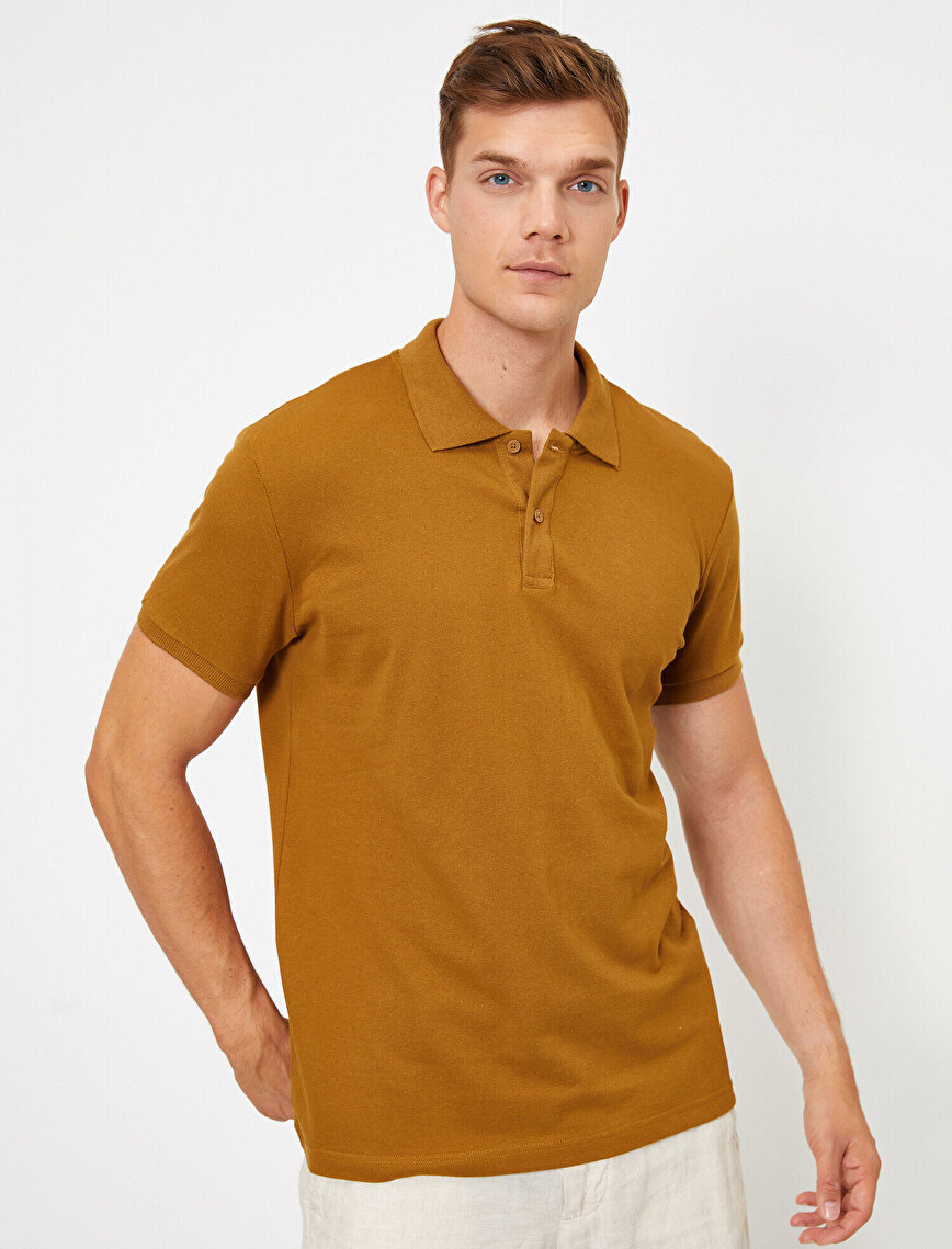 Short Sleeve Polo Neck Slim Fit T-Shirt