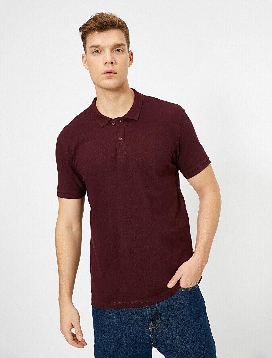 Polo Yaka Kısa Kollu Slim Fit Basic Tişört