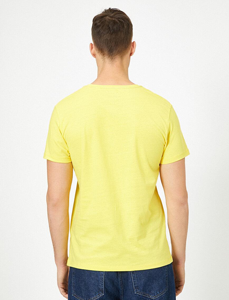 Bisiklet Yaka %100 Pamuk Slim Fit Basic Tişört
