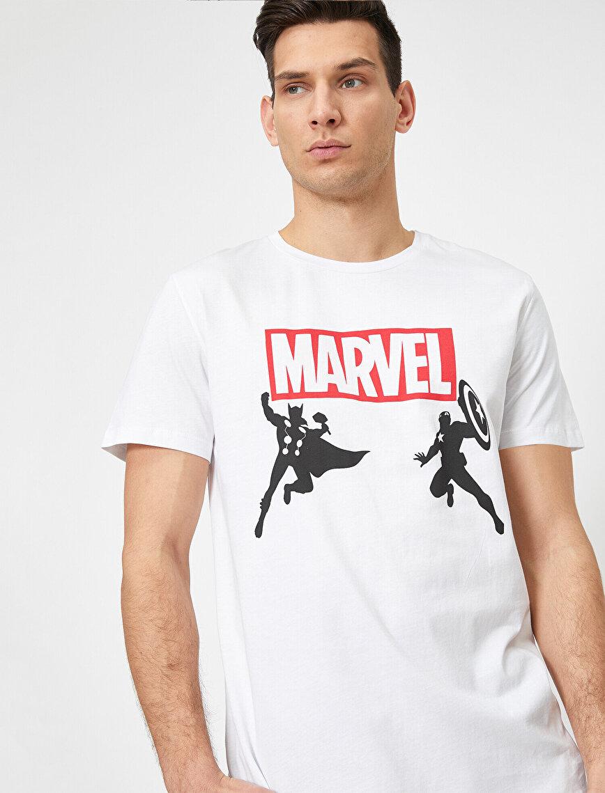 Marvel Baskılı Baskılı T-Shirt
