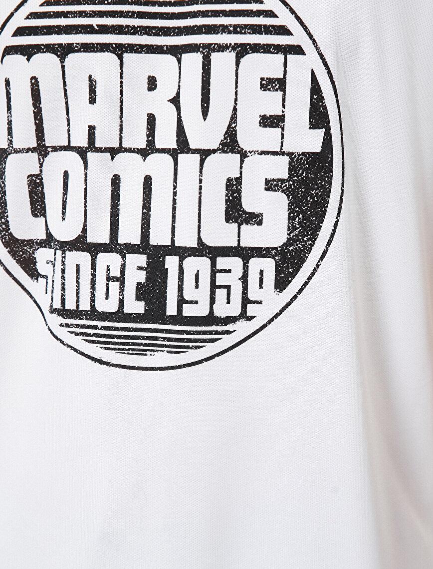 Marvel Lisanslı Yazılı Baskılı Tişört
