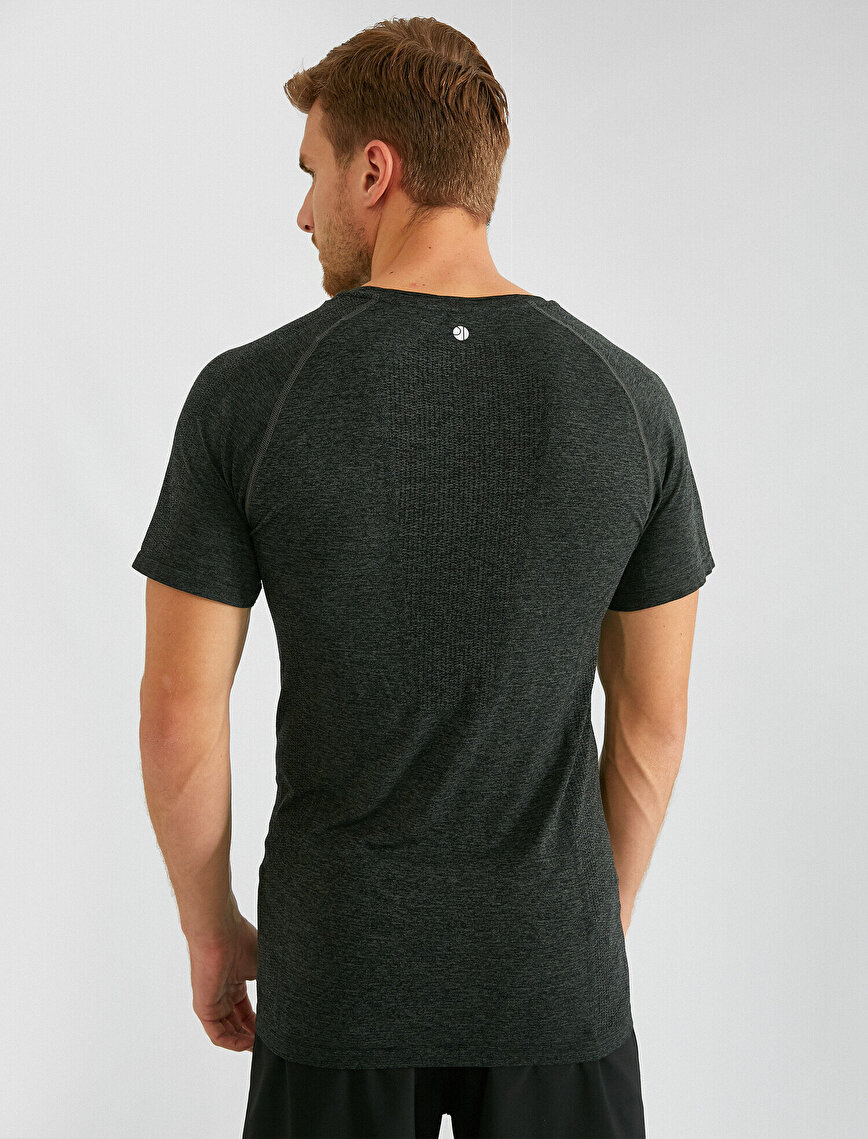 Crew Neck Short Sleeve Slim T-Shirt