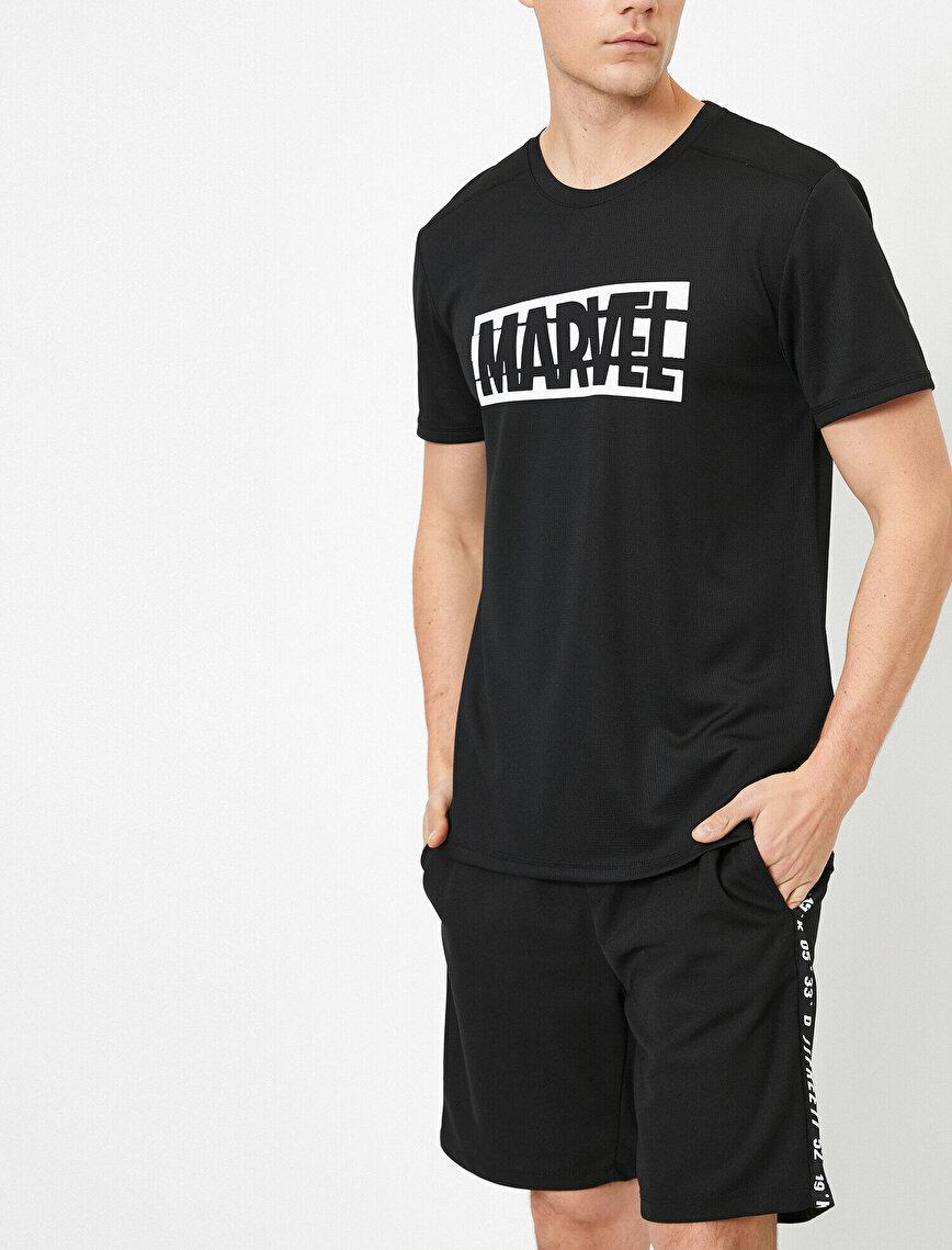 Marvel Lisanslı Göğsü Baskılı Tişört