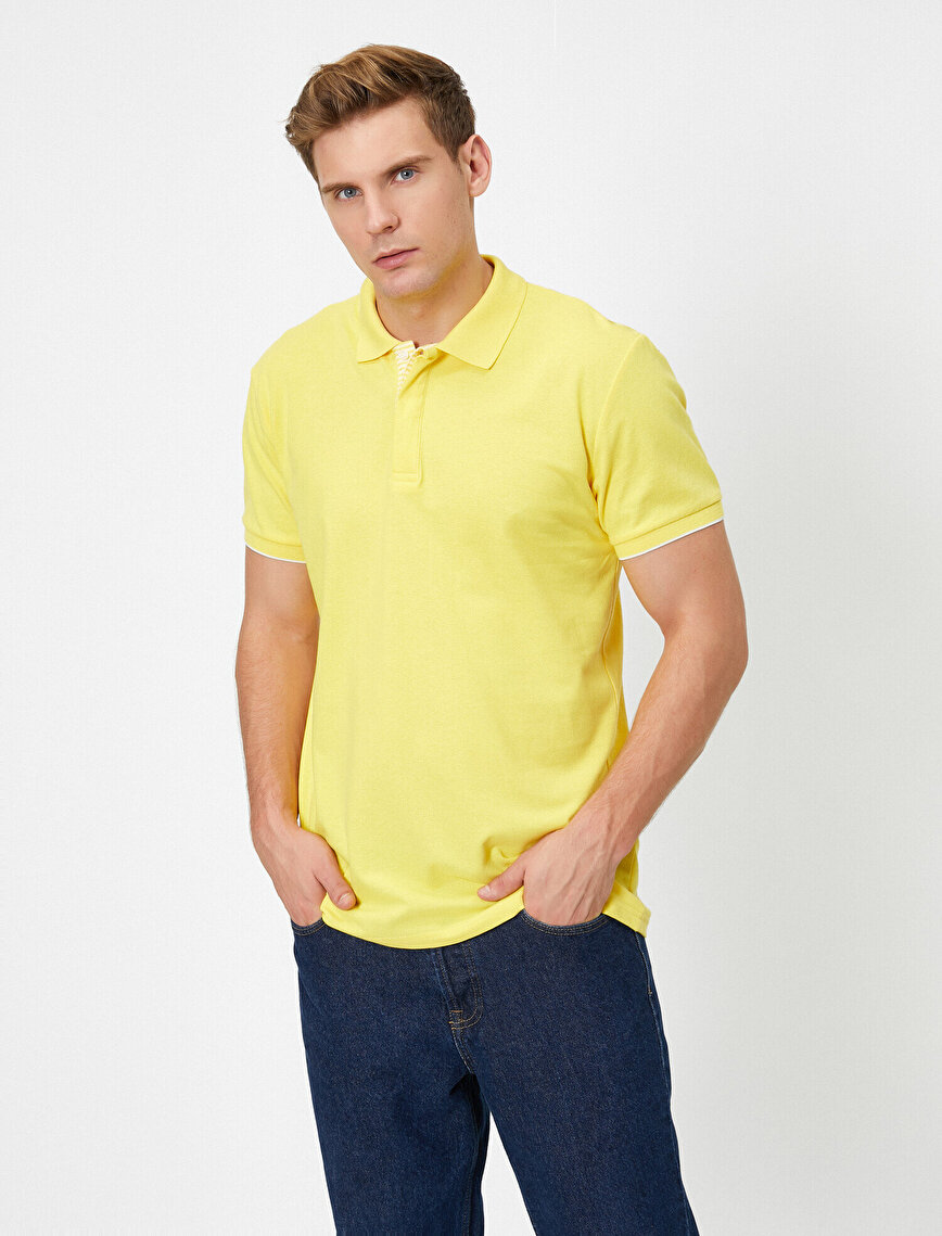 Polo Neck Short Sleeve Basic T-Shirt