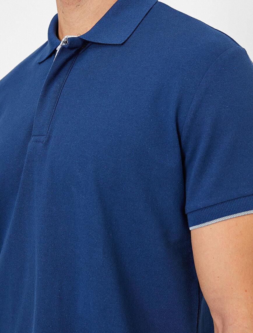 Polo Neck Short Sleeve Basic T-Shirt