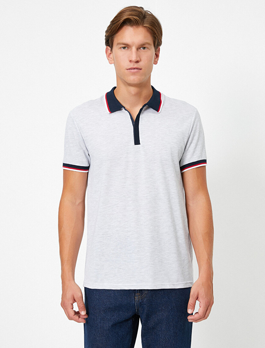Polo Neck Short Sleeve T-Shirt