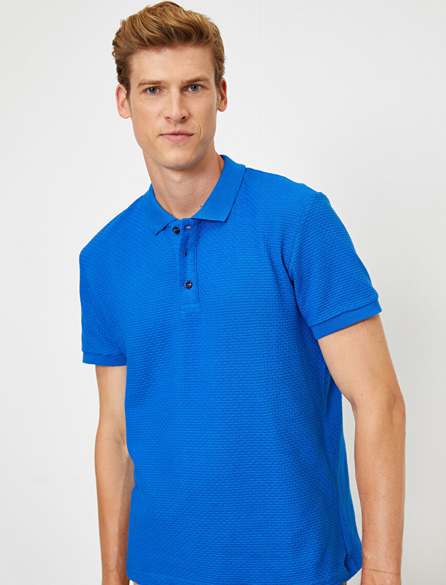 Cotton Polo Neck T-Shirt