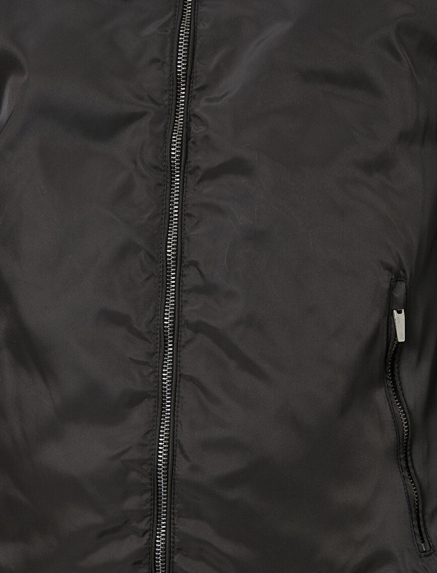 Zipper Detailed Coat