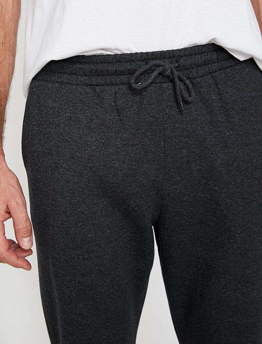 Cep Detaylı Slim Fit Basic Eşofman Altı