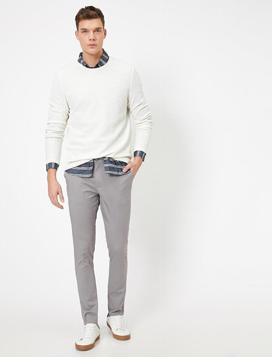 Cep Detaylı Skinny Fit Pantolon