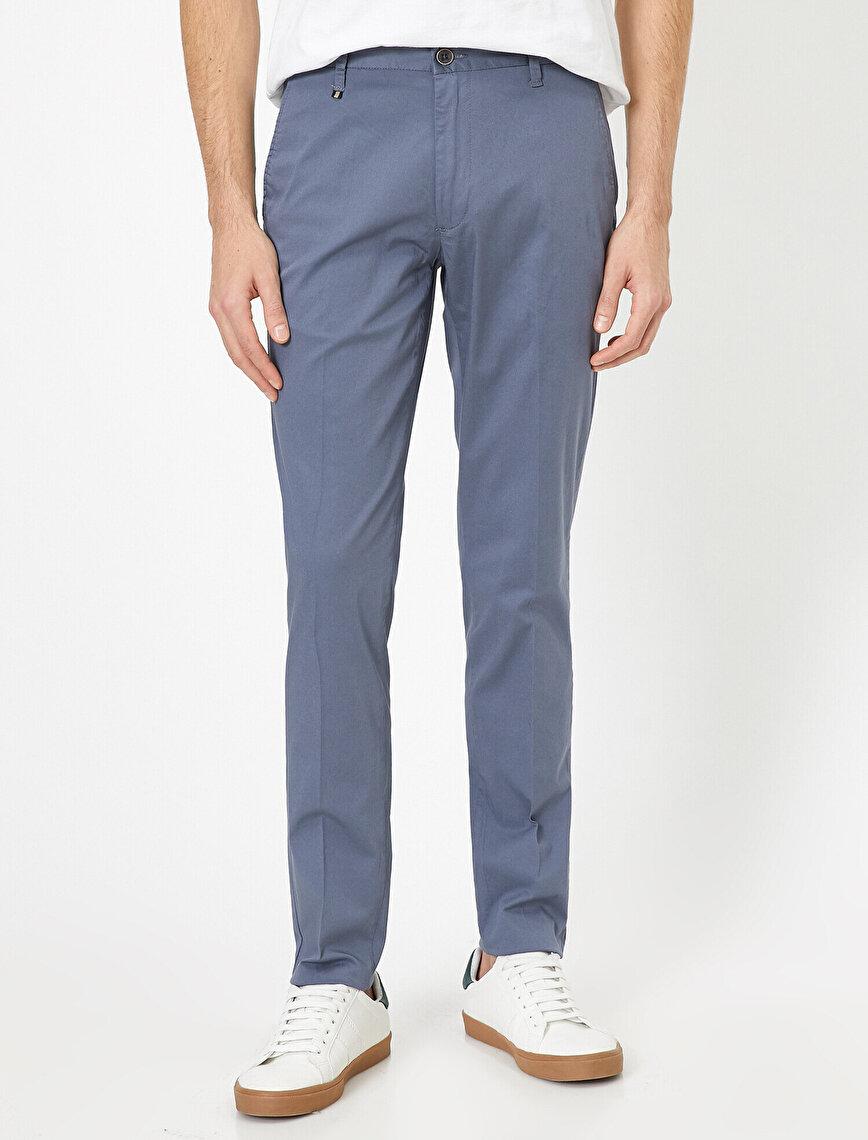 Cep Detaylı Slim Fit Pantolon
