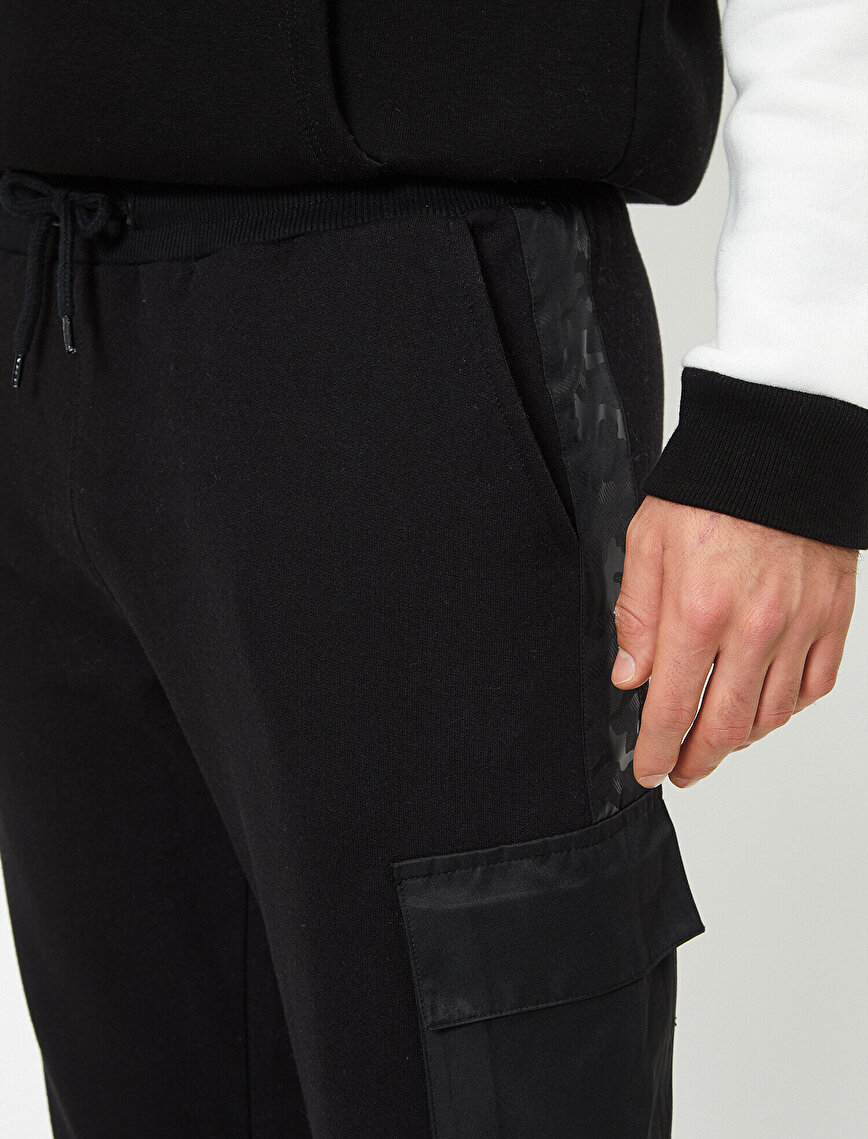 Leather Detailed Jogging Pants