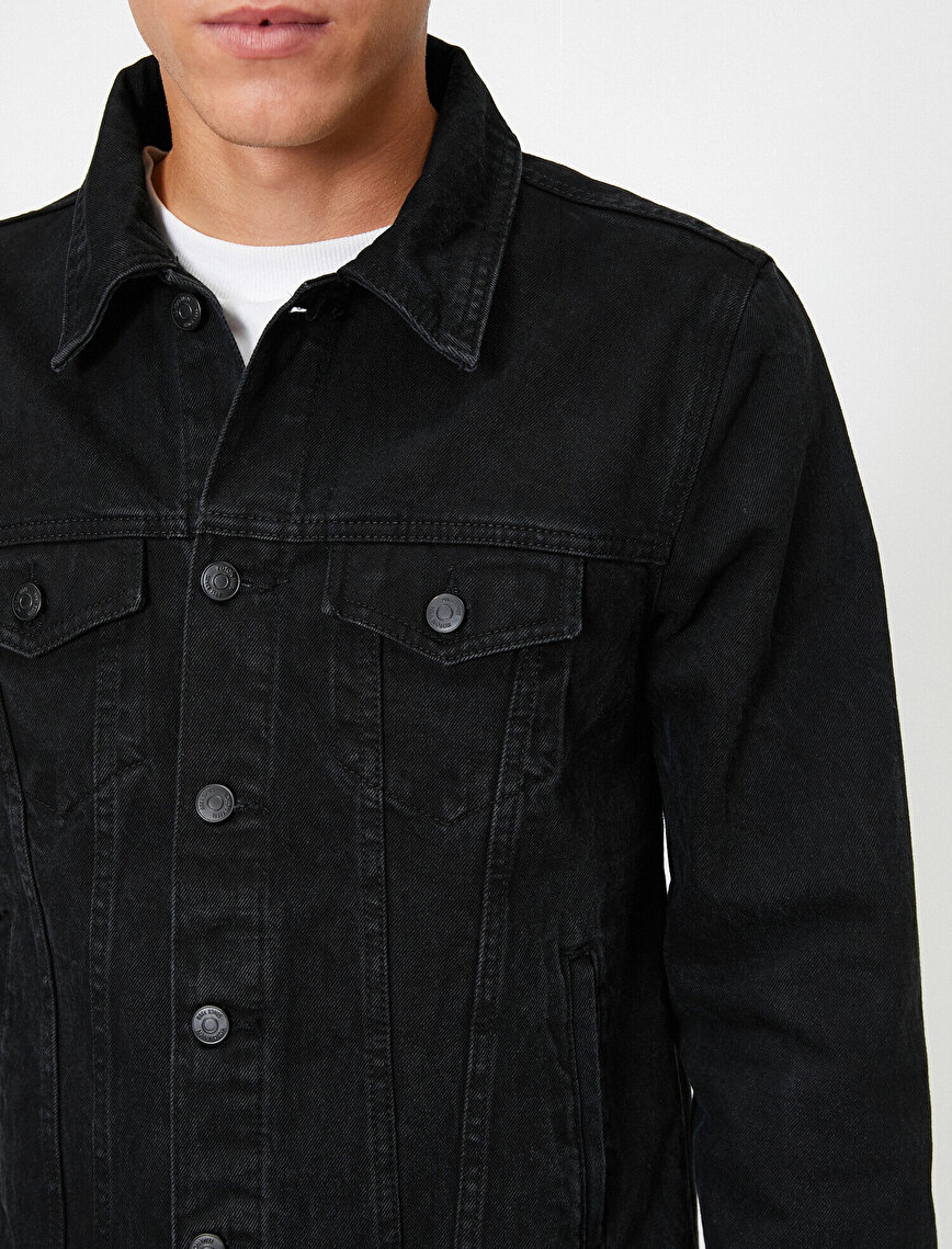 Cotton Pocketed Jean Jacket