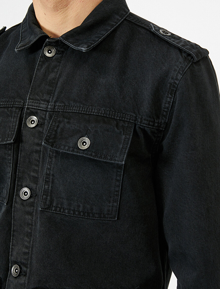 Button Detailed Jean Jacket