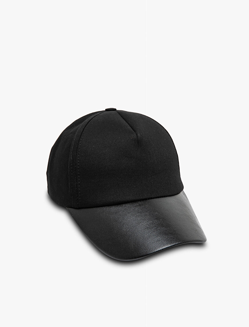 Leather Detailed Hat