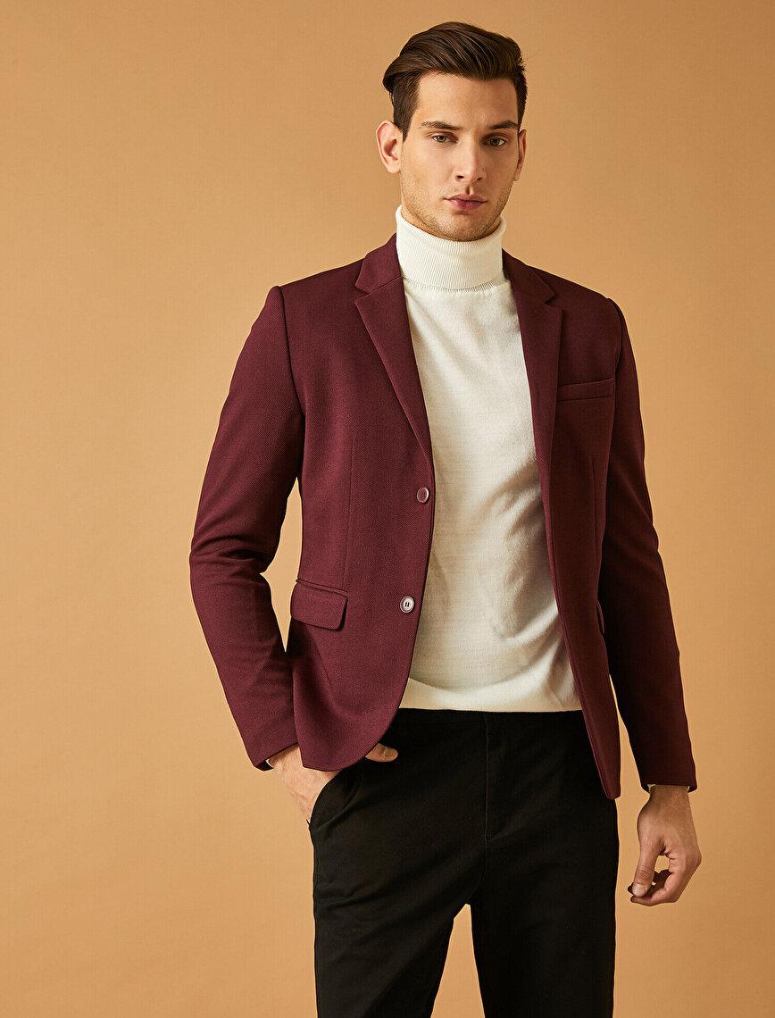 Cep Detaylı Düğmeli Smart Blazer Ceket