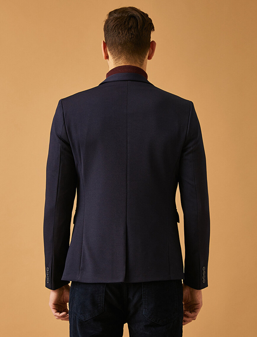 Long Sleeve Button Detailed Jacket