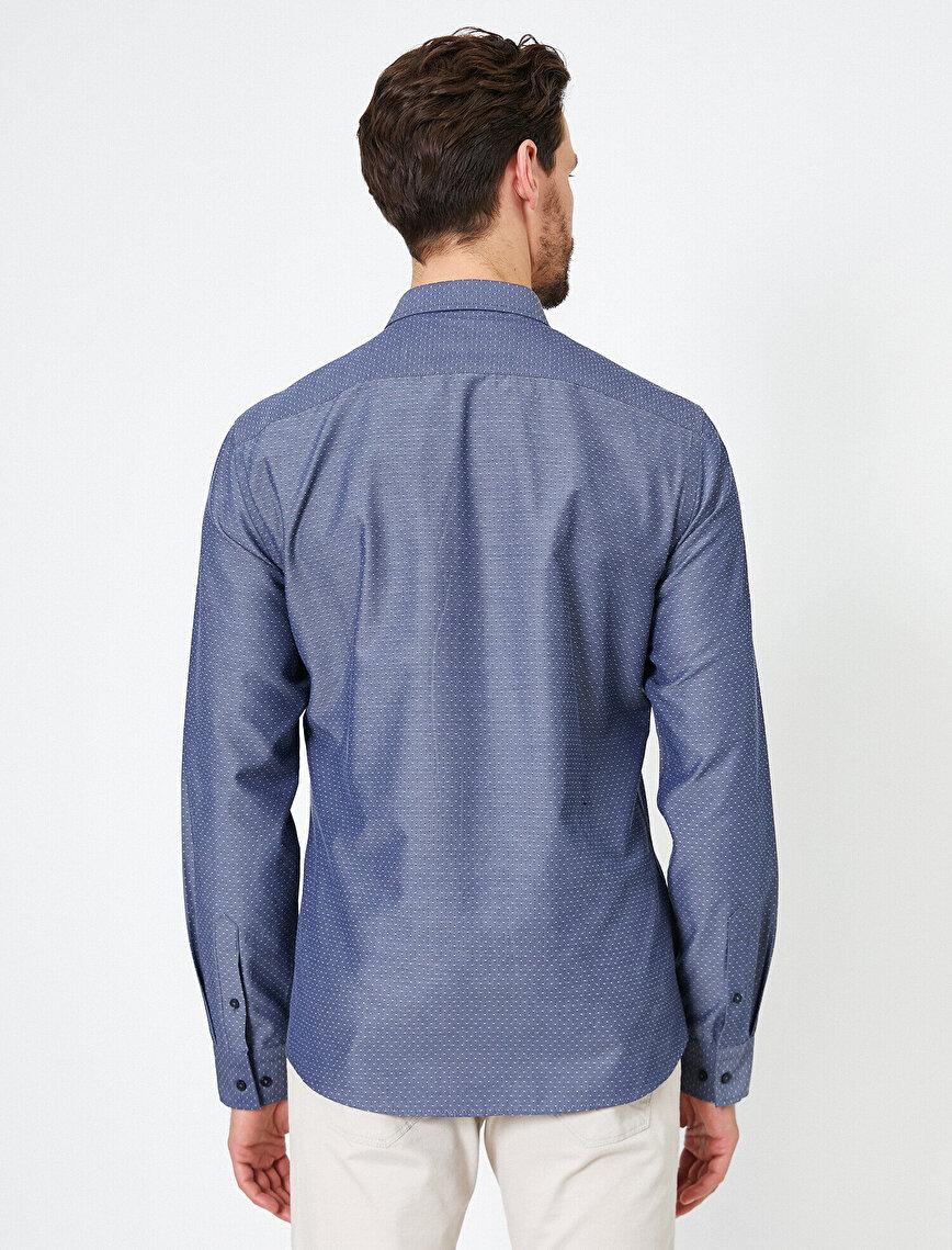 Klasik Yaka Uzun Kollu Slim Fit Smart Gömlek