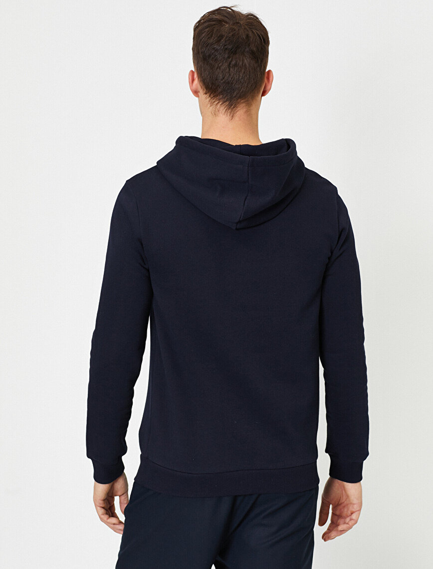 Kapüşonlu İşlemeli Sweatshirt