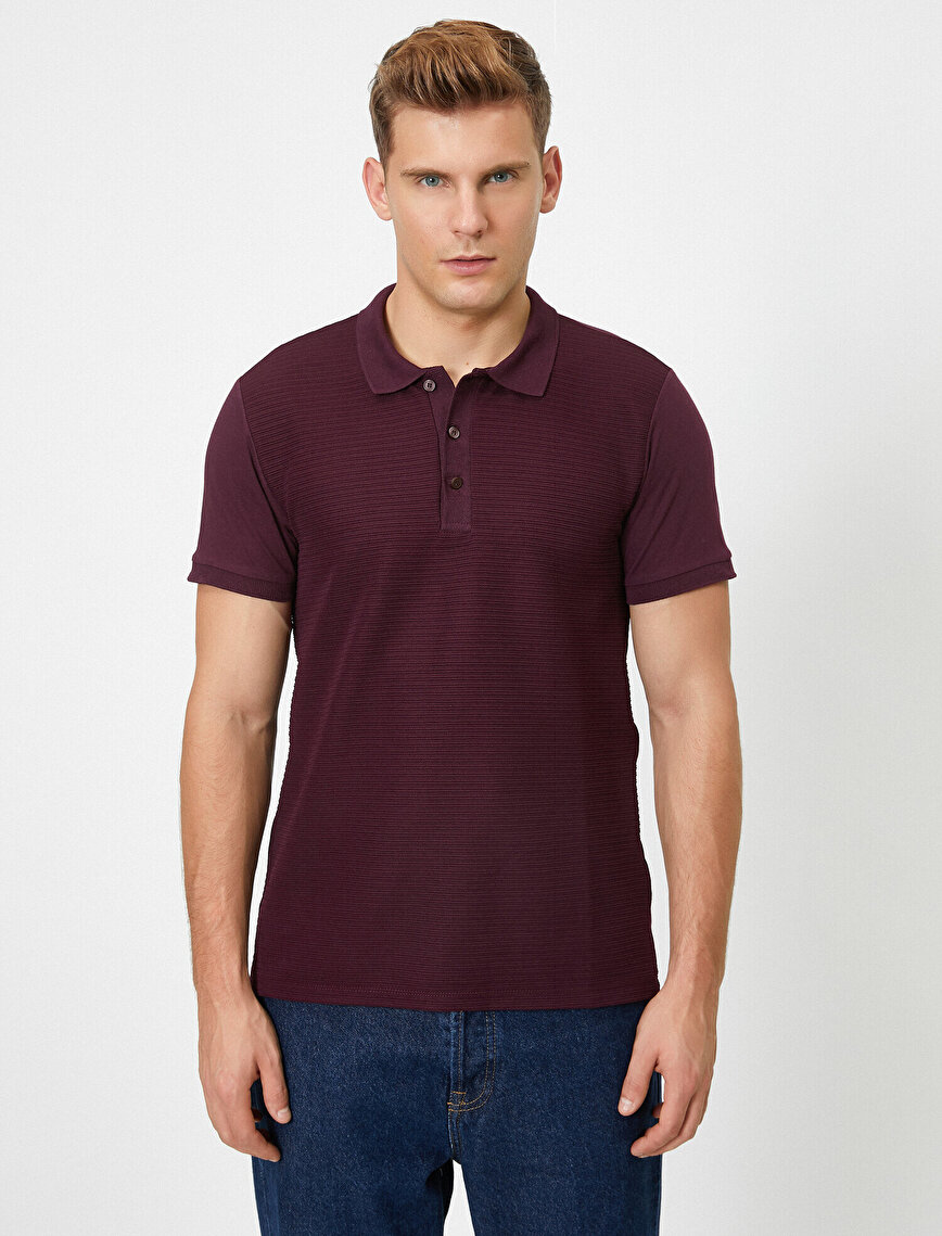 Short Sleeve Polo Neck T-Shirt