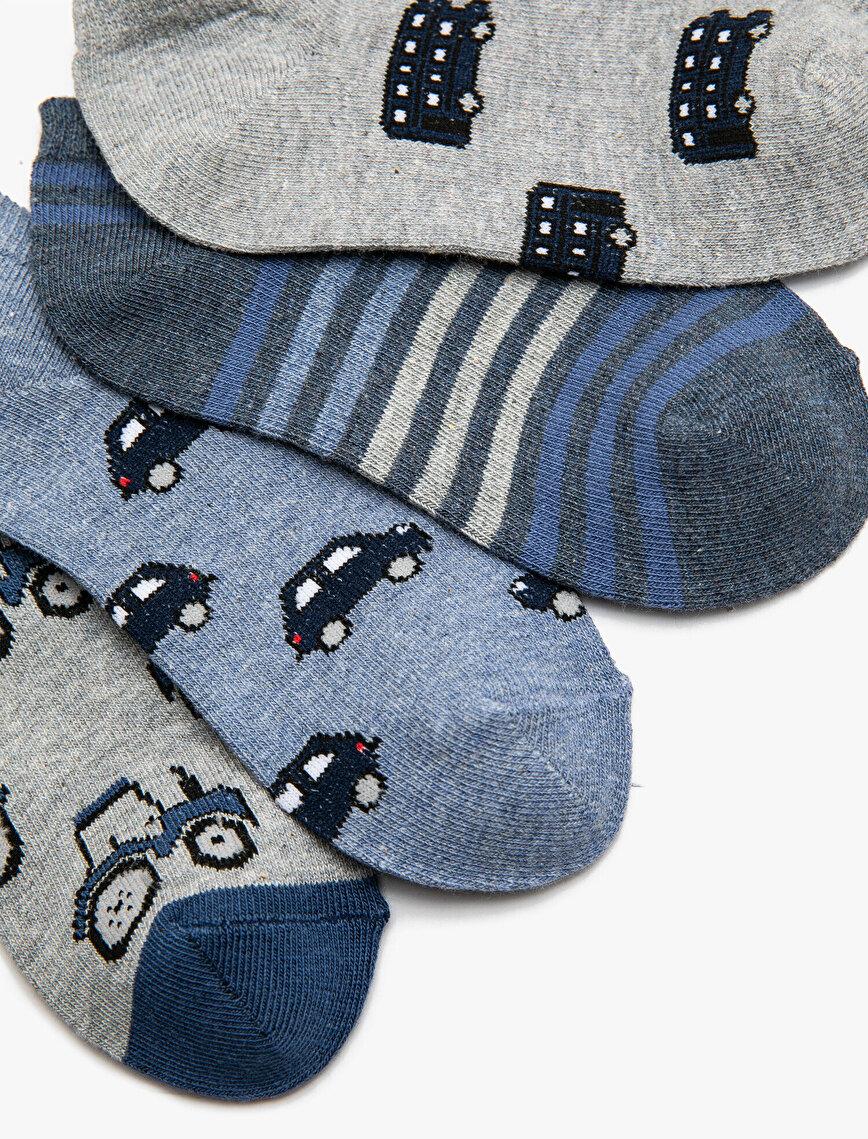 4 Pack Boys Socks