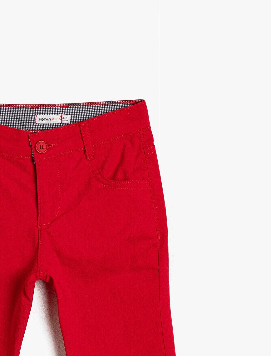 5 Cep Pamuk Gabardin Basic Pantalon