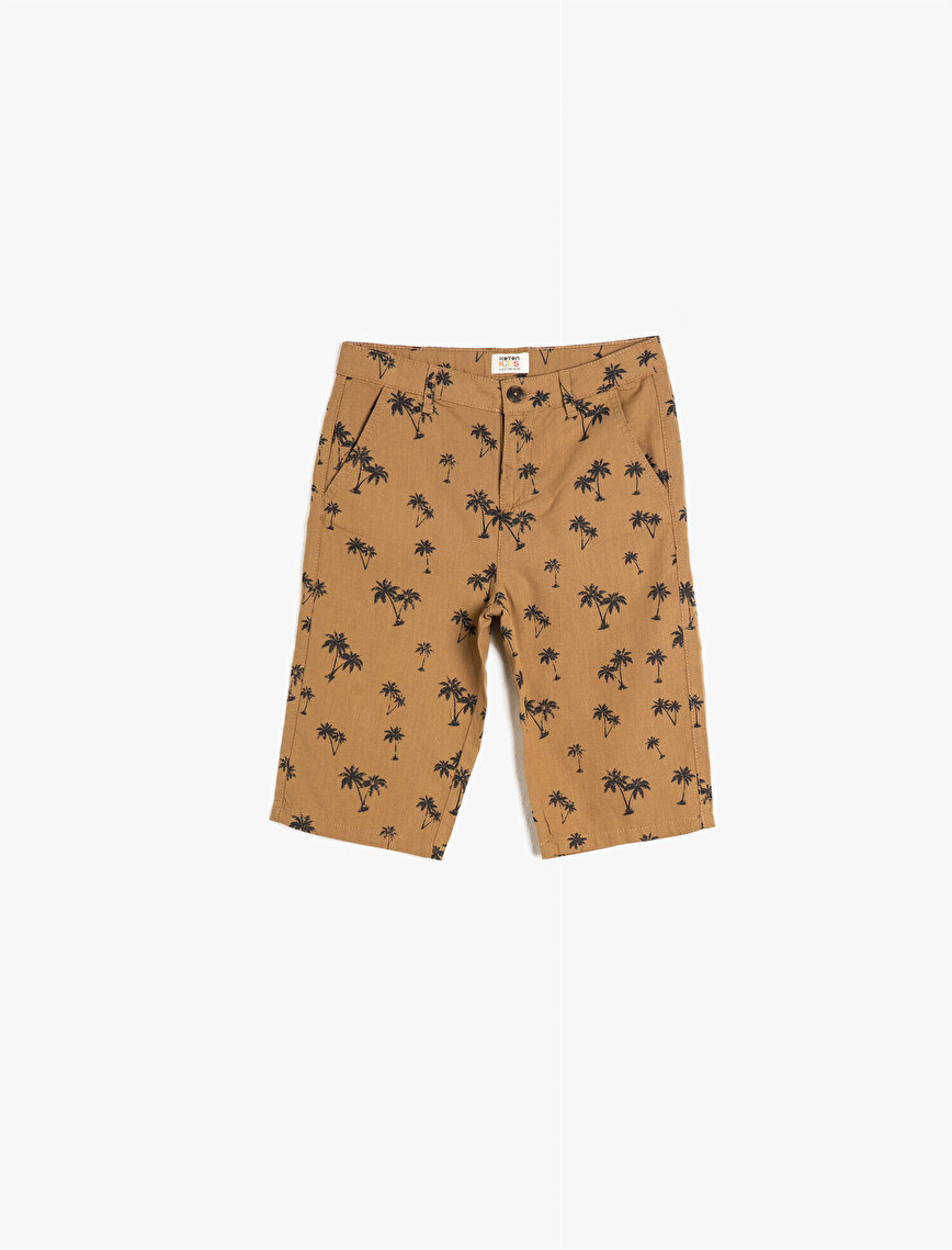 Cotton Pocketed Printed Shorts