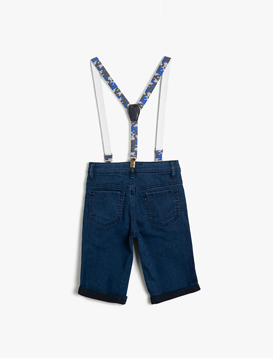 Belt Detailed Jean Shorts