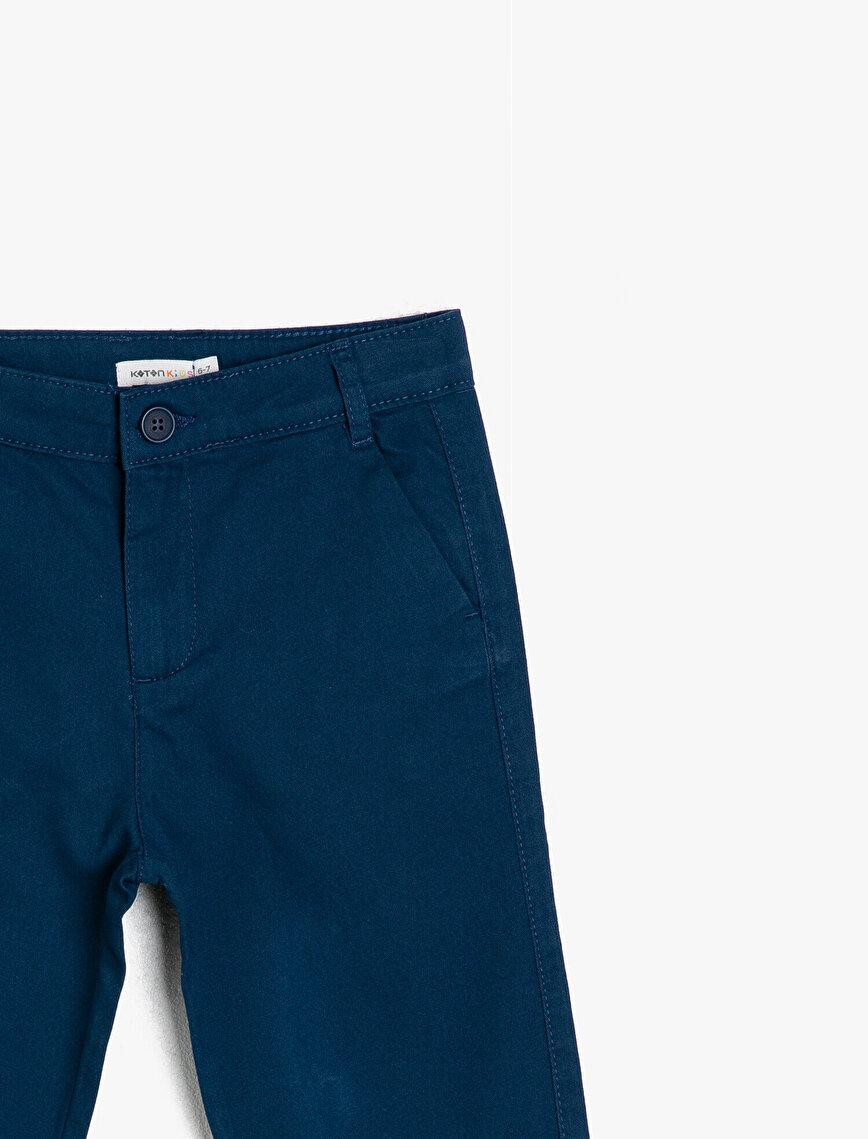 Basic Chino Kesim Pamuklu Pantalon