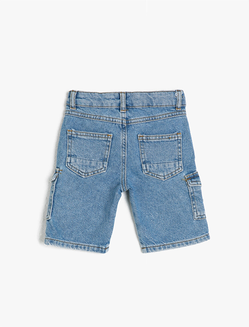 Pocket Medium Rise Jean Shorts