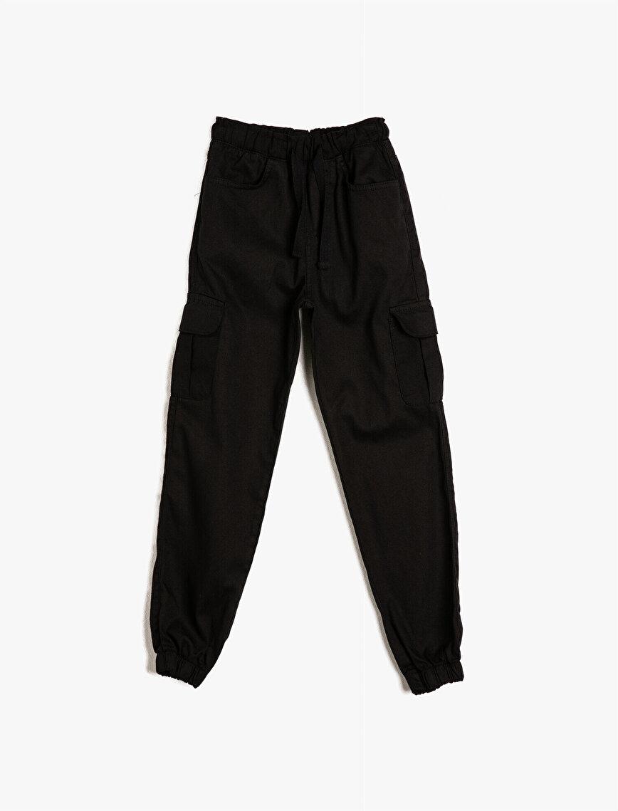 Paçası Beli Lastikli Cepli Bol Pantolon