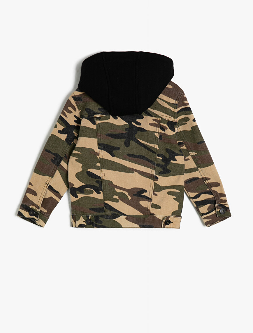 Camouflage Patterned Jean Jacket