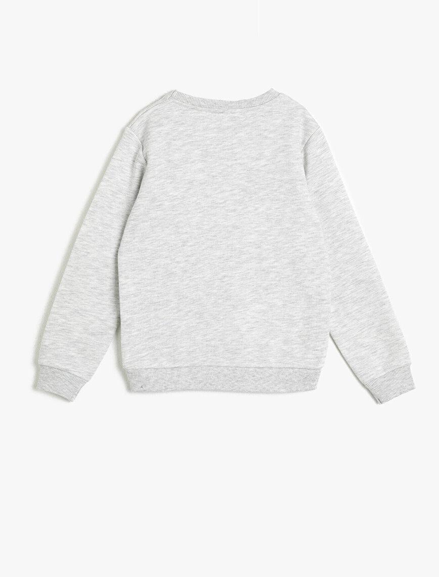 Snoopy Lisanslı Baskılı İçi Tüylü Yumuşak Sweatshirt Kumaştan Sweatshirt
