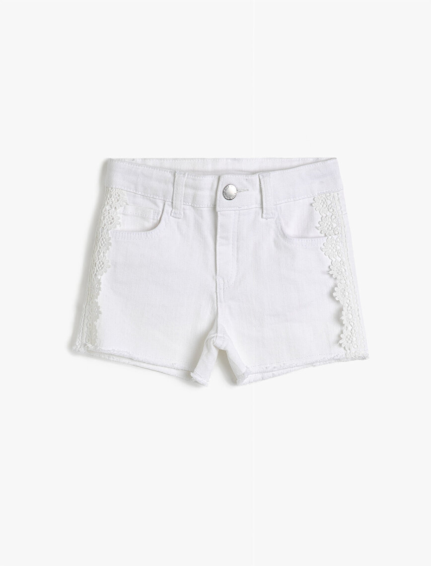 Lace Detailed Jean Short