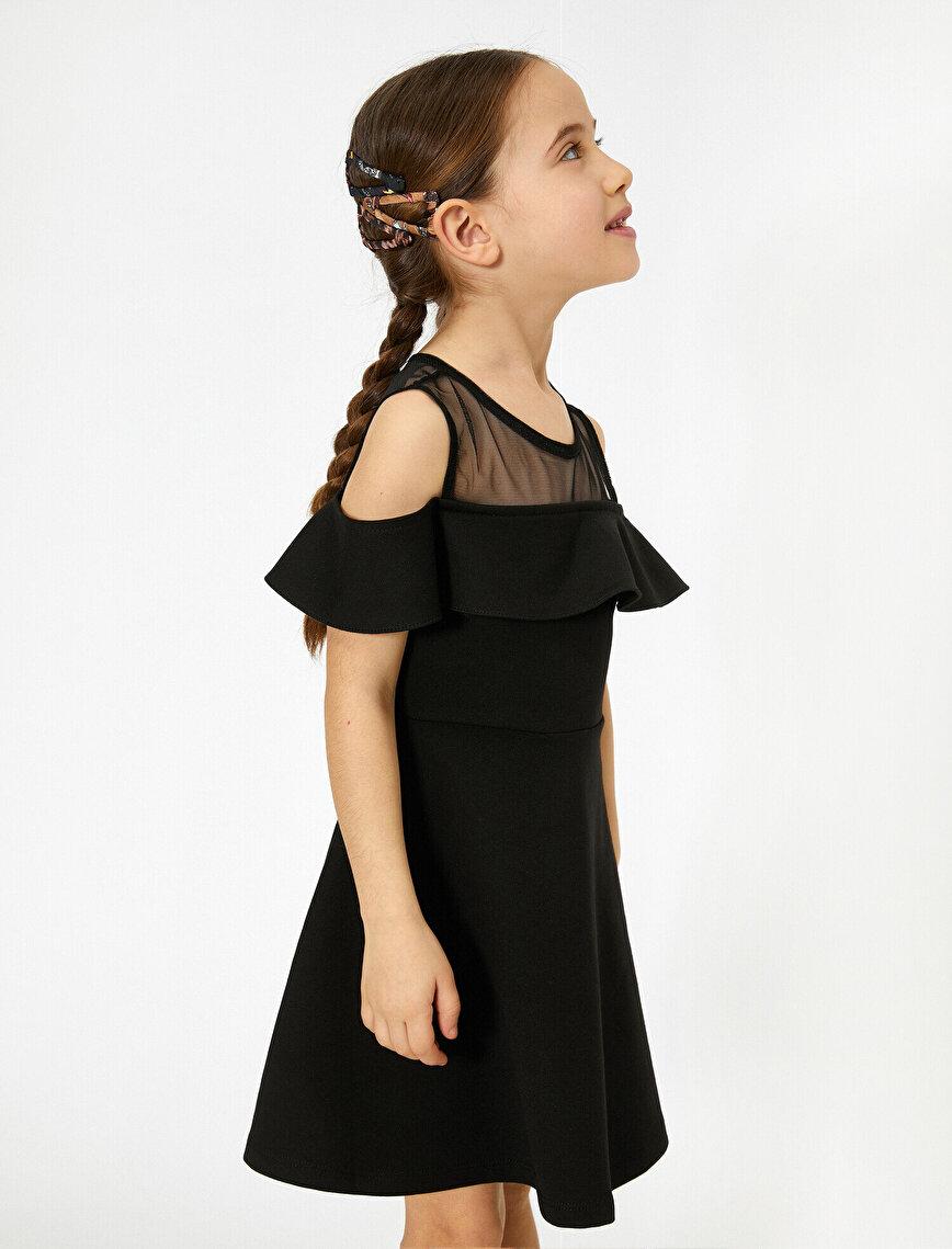 Transparent Detailed Mini Dress