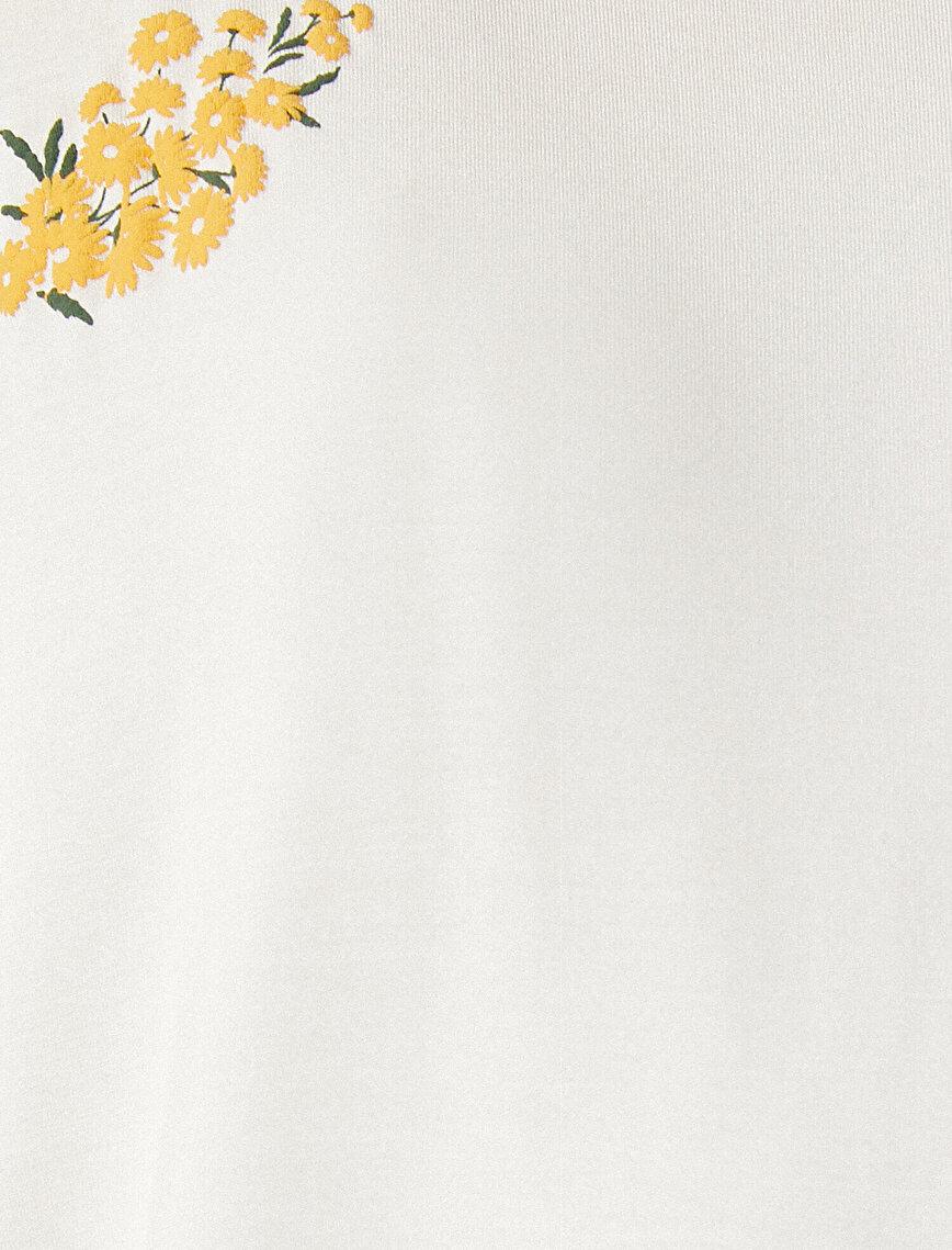 Floral Pyjama Top Embellished