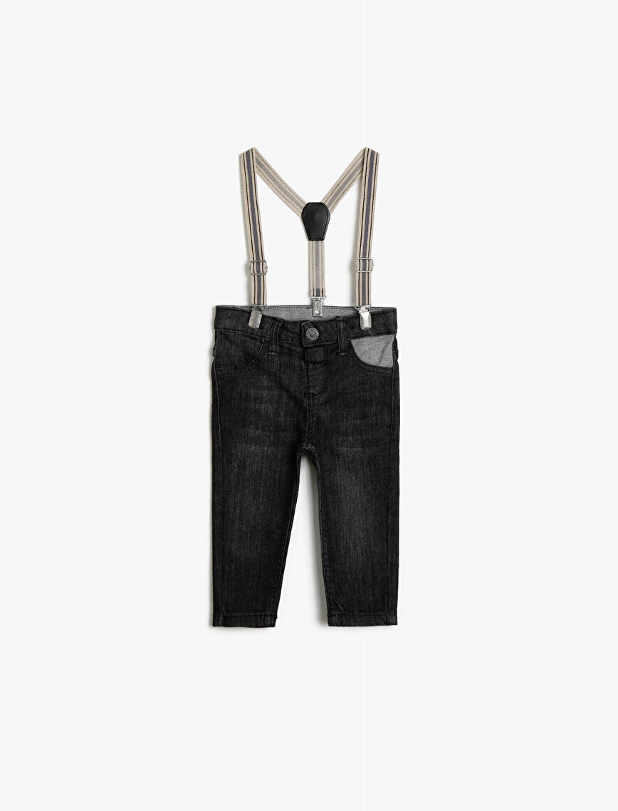 Belt Detailed Jean Trousers