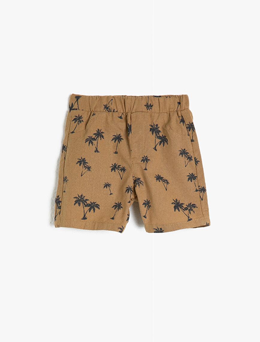 Printed Medium Rise Shorts