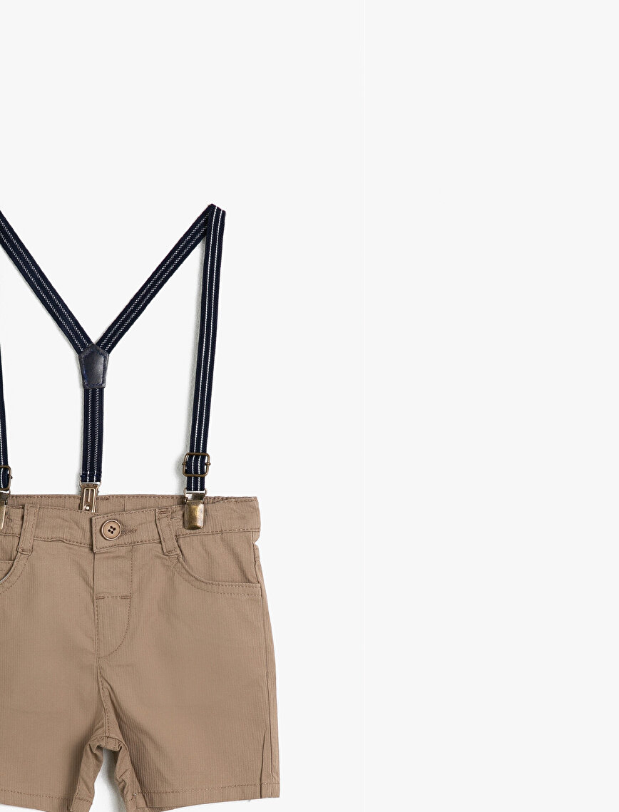 Pocketed Buttoned Shorts