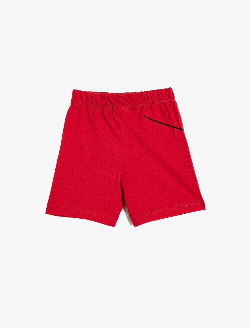 Medium Rise Printed Basic Shorts