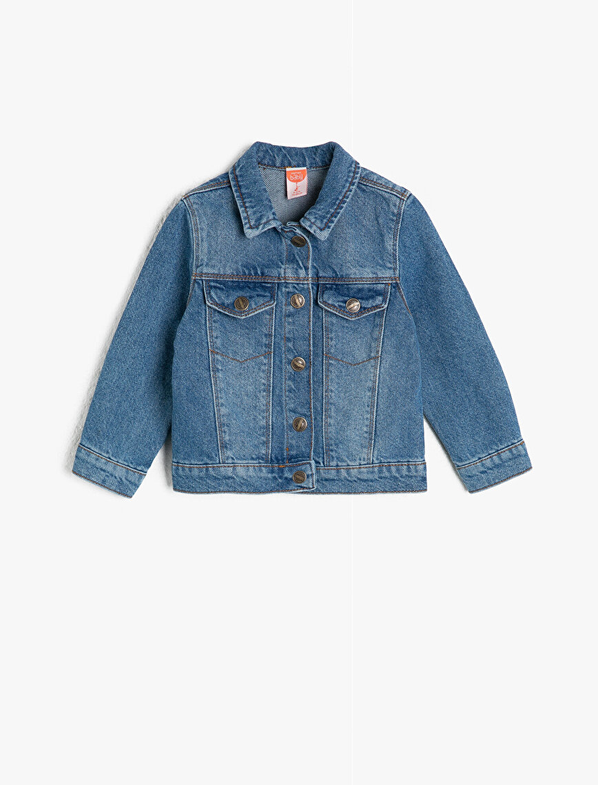 Classic Neck Jean Coat