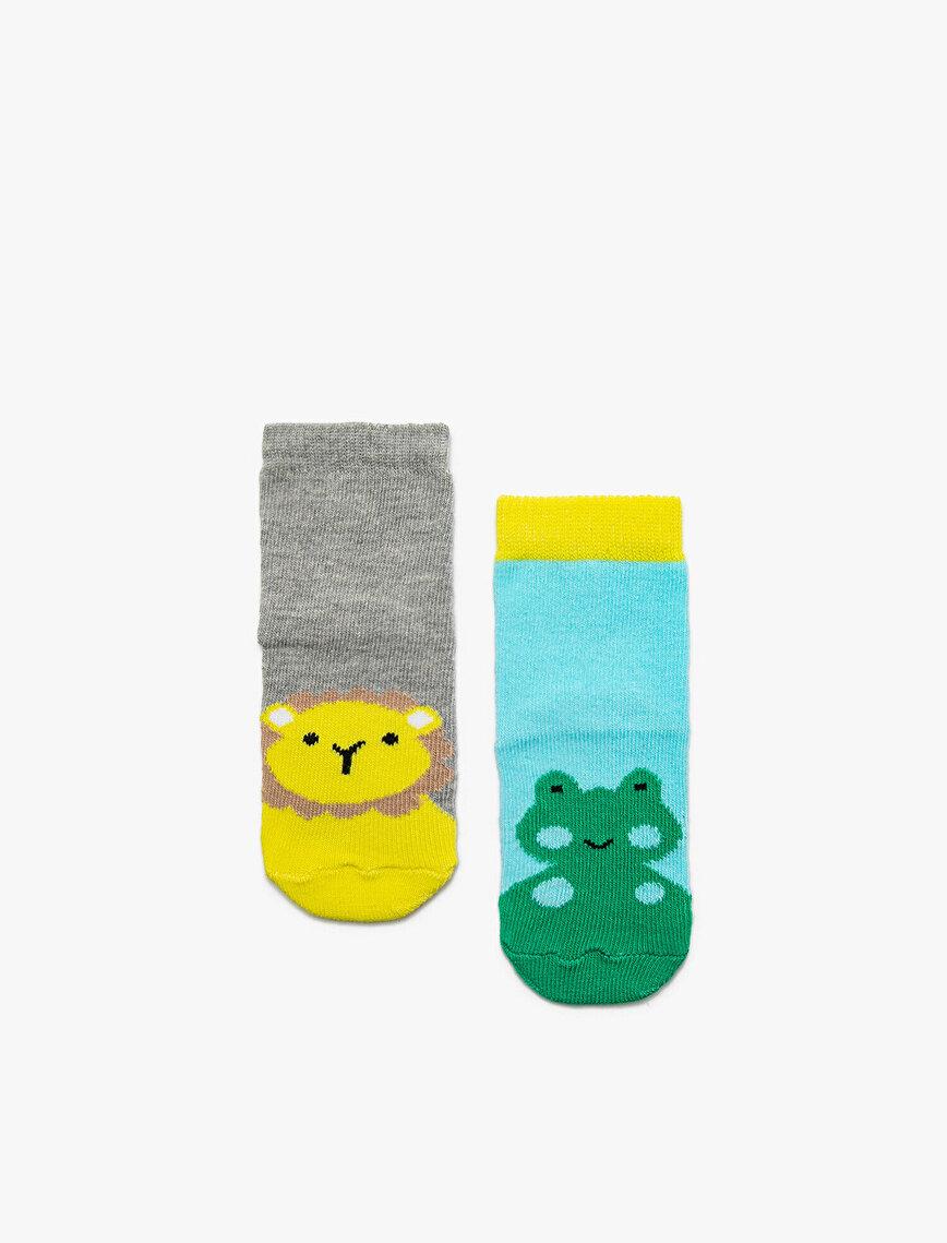 2'li Erkek Bebek Çorap