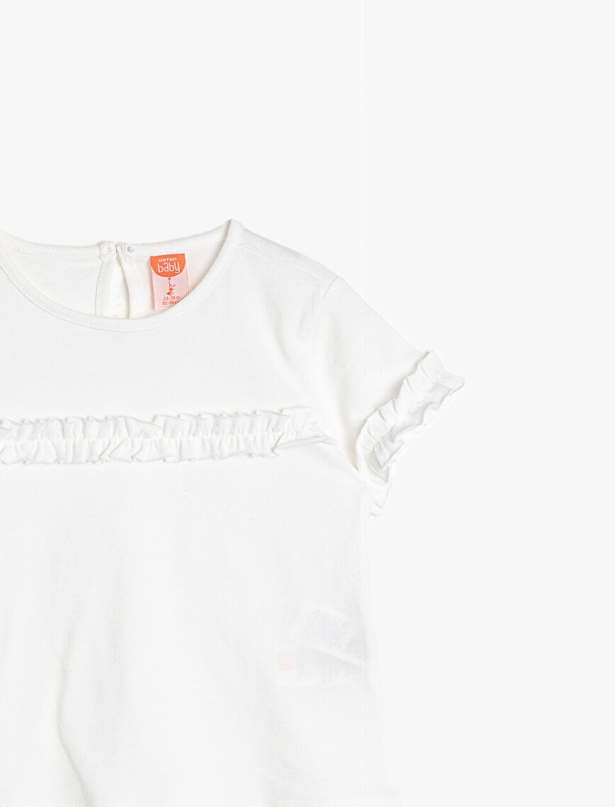 Frill Detailed T-Shirt