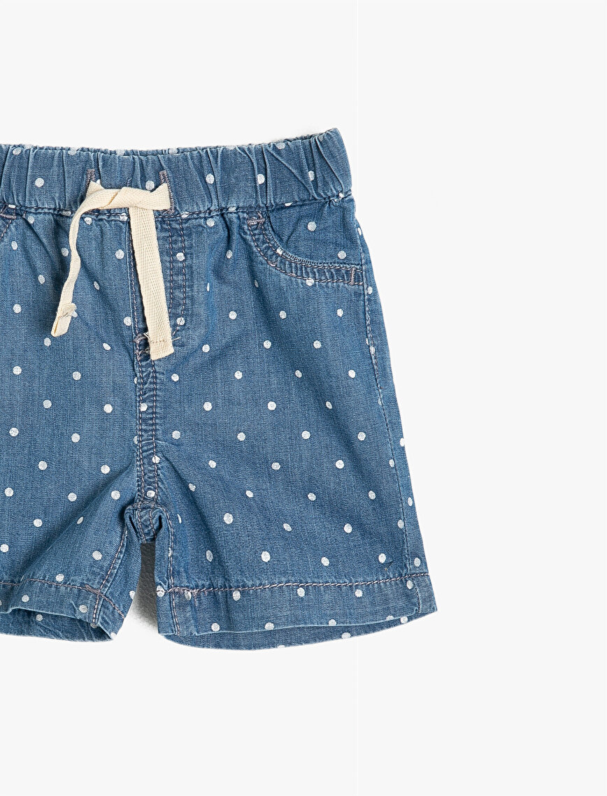 Dotted Jean Short