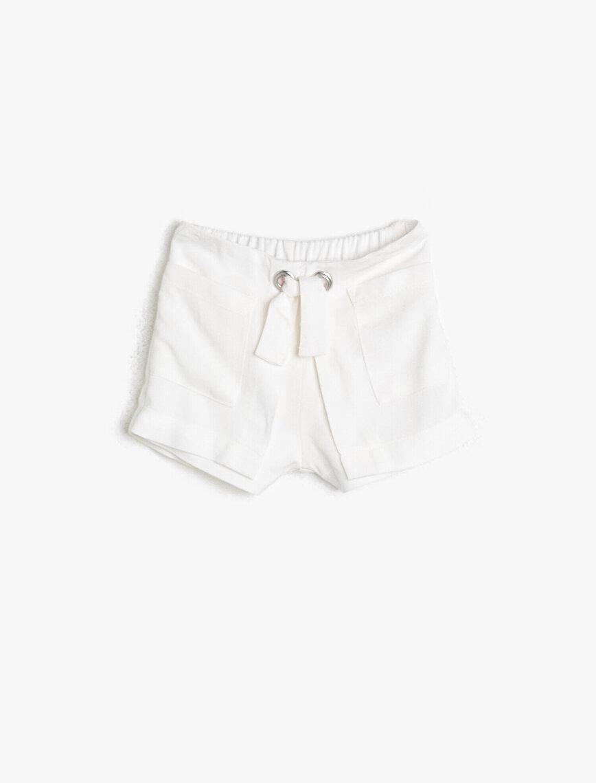 Eyeled Detailed Shorts