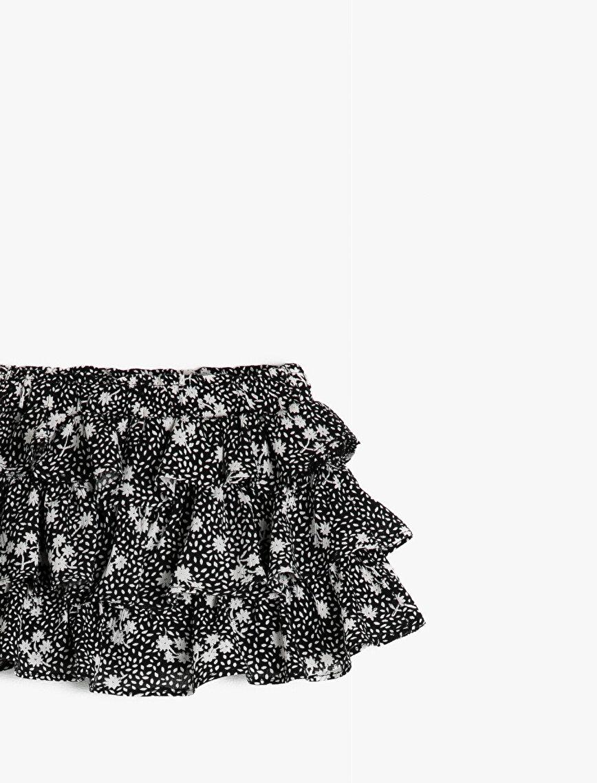 Patterned Baby Girl Skirt