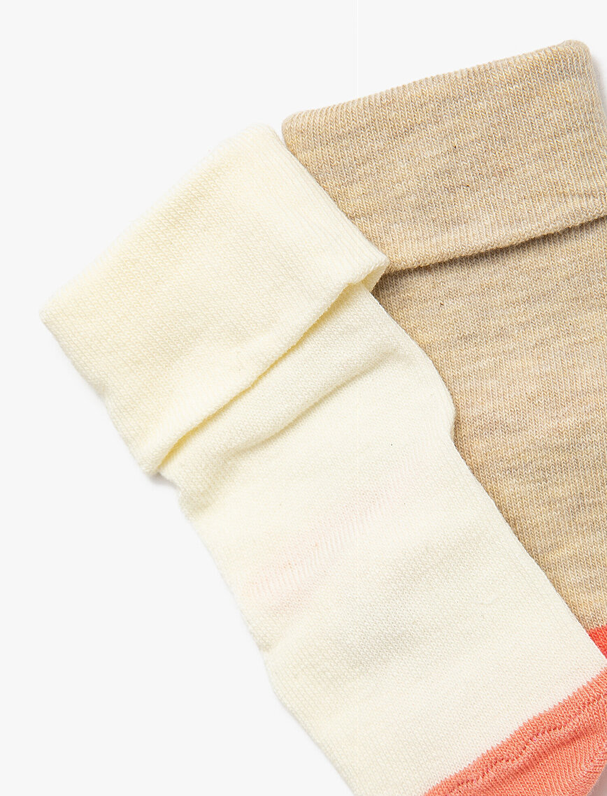 2'li Kız Bebek Çorap