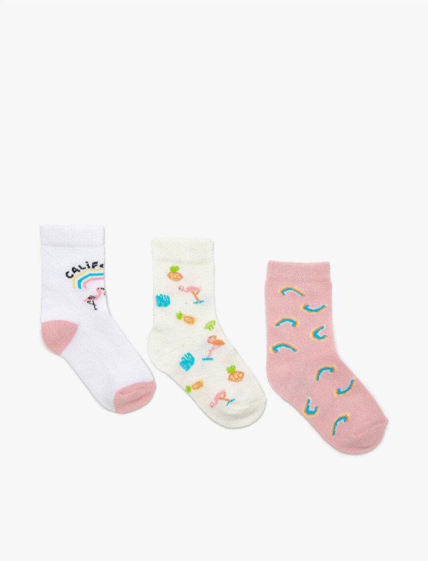 3 Pack Baby Girls Socks