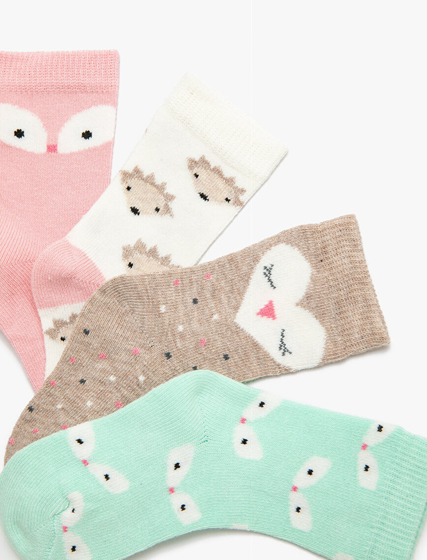 4 Pack Baby Girl Socks